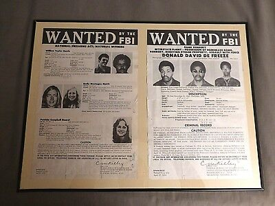 Patty Hearst Original 1974 Fbi Wanted Posters Flyers