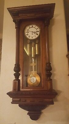 Antique Vienna Regulator 3 Weight Grand Sonnerie Wall Clock