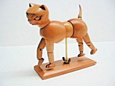 Wooden Manikin  CAT, Catikin   with moveable joints