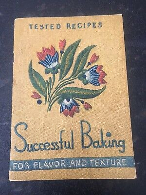 1937 Successful Baking Arm & Hammer Soda Cow Brand Cookbook Recipes 38 Pages Vgd