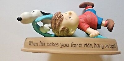 """Hallmark Peanuts Gallery Figurine 2010 """"when Life Takes You For A Ride..."""""""