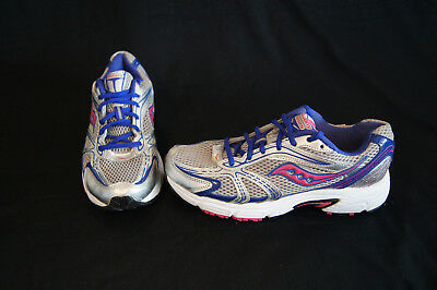 294cff079e64 Saucony Oasis Womens Running shoe size 8.5 grey/silver/pink/blue/white