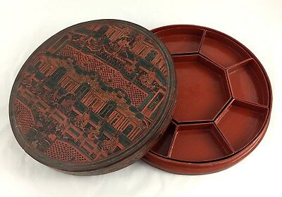 Antique Betel Box, Burmese, Cinnabar Lacquer, Unusual Design