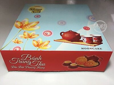 """Moon Cake Paper Boxes Container 8 1/4""""x 8 1/4""""x 2 1/4"""" Hop Banh Trung Thu"""