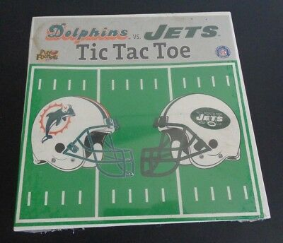 MIAMI DOLPHINS vs NEW YORK JETS Football NFL Tic Tac Toe NEW Game FREE SHIPPING