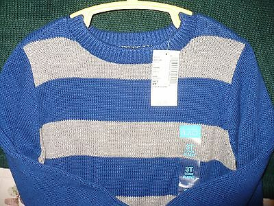 BOY'S 3 T STRIPED NAVY BLUE & RED SWEATER THE CHILDREN'S PLACE Retail $ 24.99 !
