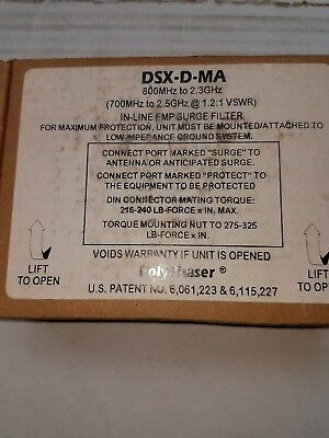 PolyPhaser-DSX-D-MA-IN LINE EMP SURGE FILTER - 800MHz-to-2-3GHz