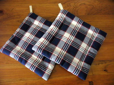 Longaberger (JW by a Designer in exact Pattern but larger repe)  Pot holders NEW