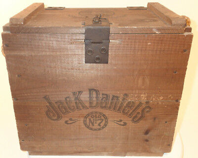 Vtg JACK DANIEL'S Daniels Old No.7 Whiskey Wooden Crate Box Cardboard Box