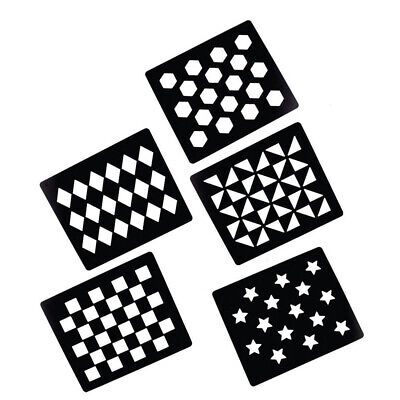 NEW Quarter Marks stencil set of 5 markers FREE POSTAGE