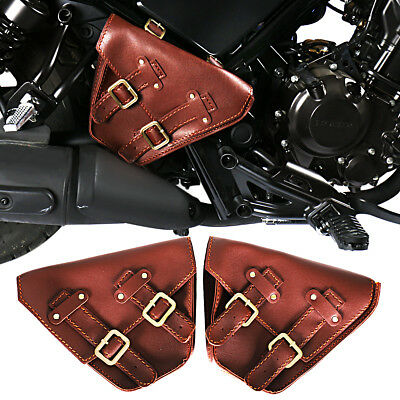 L&R Fairing Brown Saddle Bags For Honda 2017-2018 Rebel CMX 300 500 Models