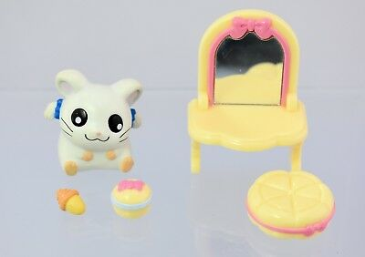 Vintage Rare Hamtaro Bijou (Ribon-chan) Figure & Accessories set EPOCH original