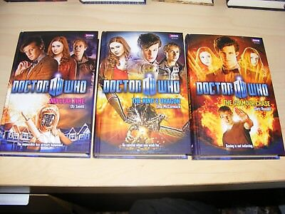 3x Dr DOCTOR WHO hardback NSA 40-42 Nuclear Time The King's Dragon Glamour Chase