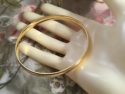 VINTAGE JEWELLERY GOLD BANGLE Solid and Heavy Dress Jewelry 24 g