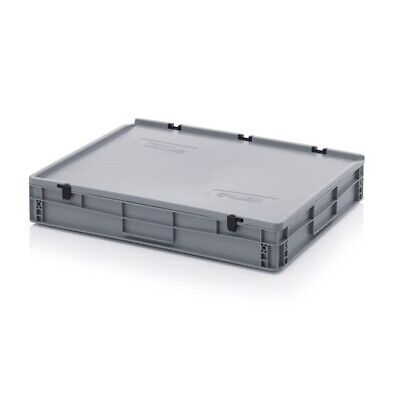 Transport Containers 80x60x13, 5 with Lid Plastic Transport Case Box 800x600x135