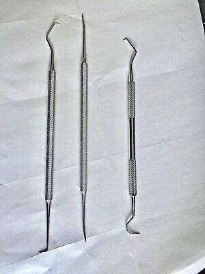 New Dental Tartar Calculus Kit Plaque Remover Tooth Scraper Scaler Set Stainless