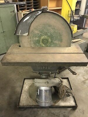 """20"""" STATE D20 Disc Disk Sander 2HP 3Ph Motor w/Dust Collection - Philly pickup"""