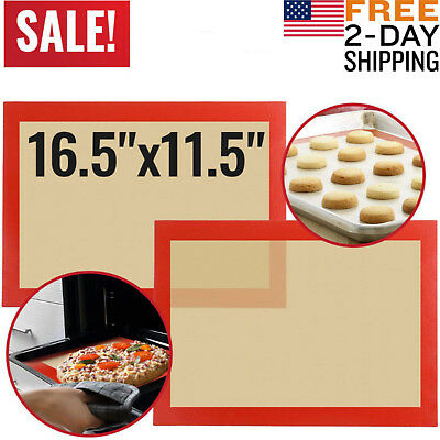 Silicone Baking Mats Sheet Bakeware Oven Non Stick Cookie Tray Heat Resistant