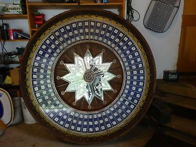 Large H.C. Evans Antique Dice Gaming Wheel 5' with stand