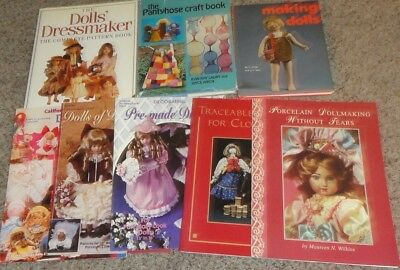 3 Books  &   5 Brochures   Making Dolls & Doll Clothes       Many Types