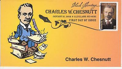 Heritage Cachets Black Heritage Charles W Chesnutt First Day Cover Fdc Lim. Ed.