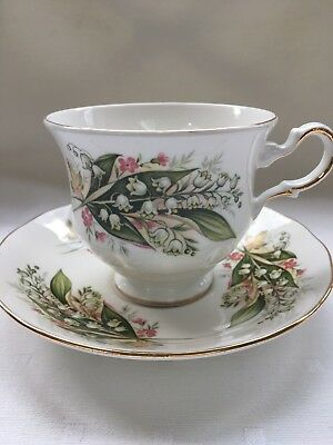 Royal Vale Bone China Cup & Saucer- Snowdrops