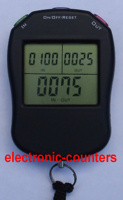 Digital hand tally counter - EC8 people in out clicker (events doorman security)