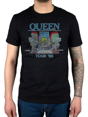 Official Queen Tour 80 T-Shirt Sheer Heart Attack A Night At The Opera Hot Space