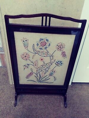 Vintage Tapestry Fire Screen