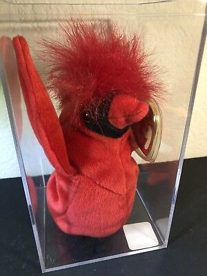 "TY Beanie Baby ""Mac"" The Cardinal – Rare with 4 Errors Retired COLLECTABLE NEW!"