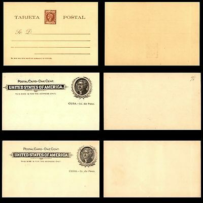 Spanish Colonies 19th Century Stamp Collection of Mint Postal Stationery Include