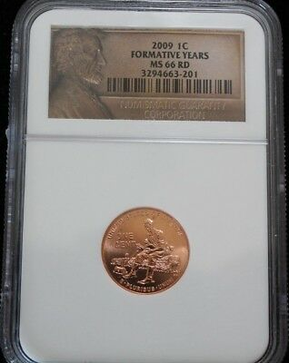 2009 Lincoln Bicentennial Cent Formative Years NGC MS66 RD