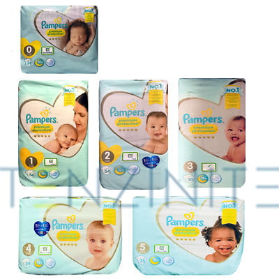 Pampers New Born Baby Nappies  Size 0 1 2 3 4 5 6 Premium Jumbo Monthly Packs