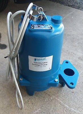 WS0511BF Goulds 1/2 HP 115 Volts Submersible Sewage Pump Single Phase
