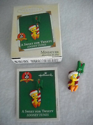A Sweet For Tweety Christmas Miniature Hallmark Ornament
