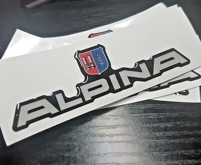 BMW ALPINA Sticker/Decal Badge Emblem B5 B6 B7 C1 C2 C6 B9 B10 B12 D5 DOMED GEL
