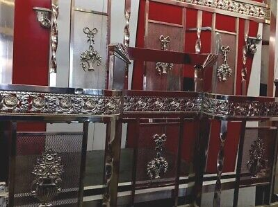 FABULOUS ANTIQUE FRENCH  FULL/DOUBLE BED est 1920s ORNATE DESIGNS(TRIMS OF ROSES