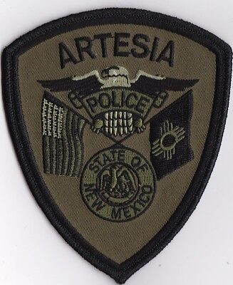 Artesia Police subd. New Mexico NM Police patch