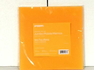"Poppin Jumbo Mobile Memos ORANGE 8.5"" Square 100 Sheets Sticky Free S&H (1602)"