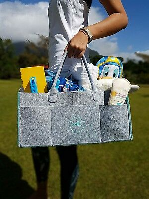 Ooki Baby Large Diaper Caddy - Minimalist Nursery Tote Bag | Foldable Changing T