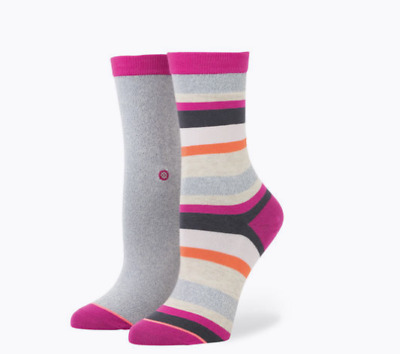 Nwt! Stance Shred Girls Everyday Combed Cotton Crew Socks Youth Medium 11-1