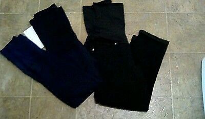woman's maternity lot of 2 black pants size large new with tags