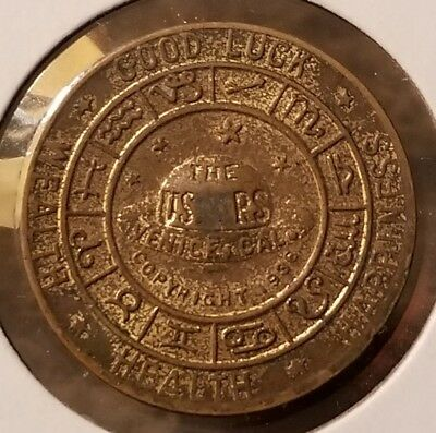 1936 Venice California  Ushers Magic/Psychic Store Leo Good Luck Zodiac Token