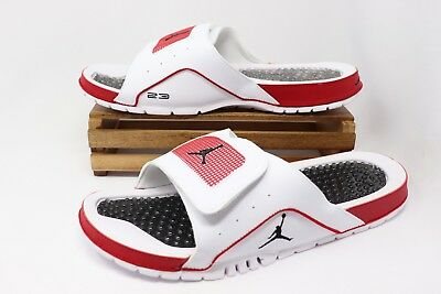 809c0595293c9 Nike Air Jordan Hydro IV Retro Slides White Red Black 532225-102 Men s NEW