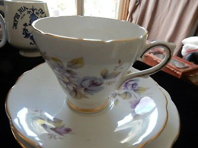 Vintage Royal Sutherland Staffordshire Cup, Saucer & Plate Trio Fine Bone China