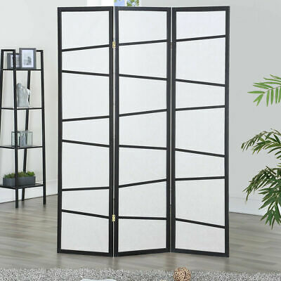 3 Panel Screen Room Divider Wood Folding Freestanding Partition Privacy Screen