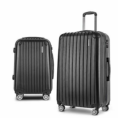 Wanderlite 2pc Luggage Suitcase Trolley Set TSA Travel Hard Case Lightweight