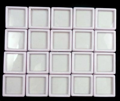 Wholesale (20 Pcs) 3x3 Cm Gem Display plastic box Storage for Gemstones...