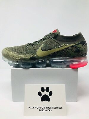 Nike Air VaporMax Flyknit C 'Olive Camo' AH8447-201 Size 15