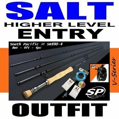 South Pacific HIGHER ENTRY SALT Fly Fishing Outfit Combo rod reel line saltwater